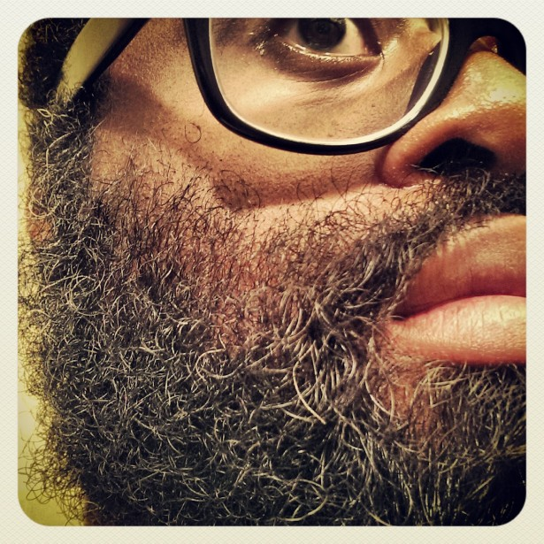 My beard lives on salmon it spears out of the Yukon River.