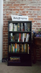 I was given two new bookshelves. I gave one to Renée and used the second to replace the one Fred gave me that didn't survive the trip. I now have room to expand.