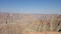 We went on a glass skywalk over the canyon but you aren't allowed to bring cameras